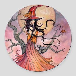 Autumn Magic Round Car Magnet
