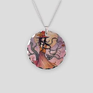 Autumn Magic Necklace Circle Charm