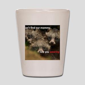 Anti-Fur Raccoon Dog pups Shot Glass