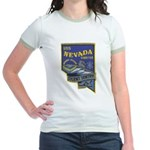 USS NEVADA Jr. Ringer T-Shirt