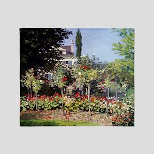 Flowering Garden at Sainte-Adresse Throw Blanket