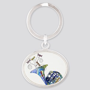Wild French Horn Oval Keychain