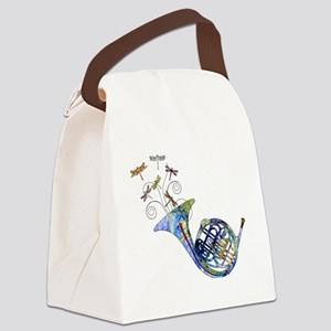Wild French Horn Canvas Lunch Bag