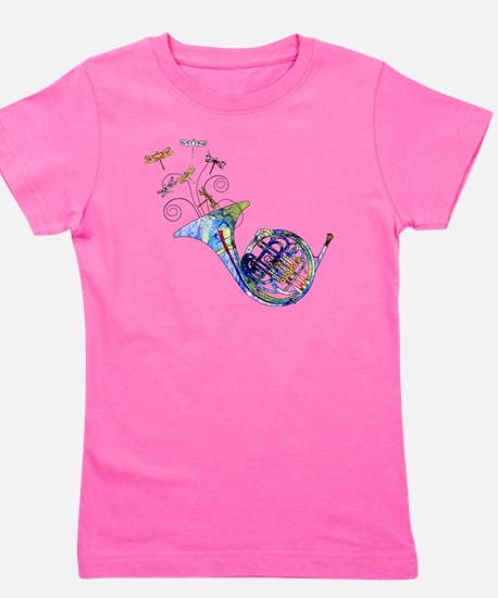 Wild French Horn Girl's Tee