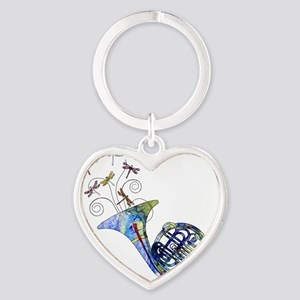 Wild French Horn Heart Keychain