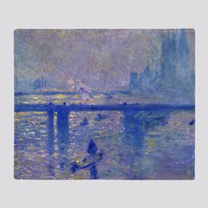 Monet Charing Cross Bridge Throw Blanket