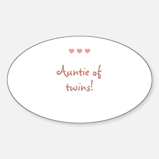Auntie of twins! Rectangle Decal