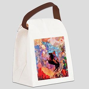 Odilon Redon Muse On Pegasus Canvas Lunch Bag