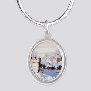 The Magpie Silver Oval Necklace