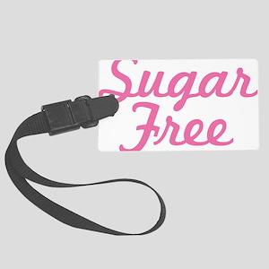 Pink Sugar Free Text Large Luggage Tag