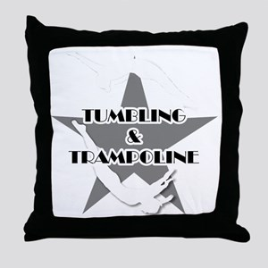 Tumbling and trampoline Throw Pillow