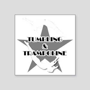 """Tumbling and trampoline Square Sticker 3"""" x 3"""""""