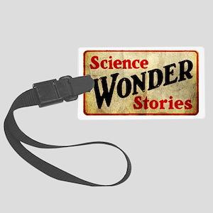 Science Wonder Stories Large Luggage Tag