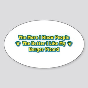 Like Berger Oval Sticker