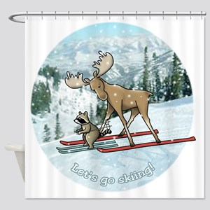 Lets go skiing! Shower Curtain