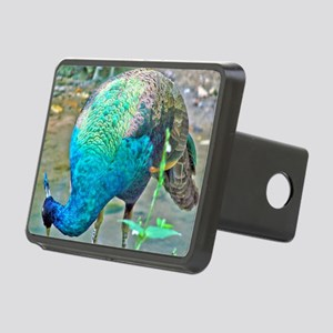 Lady Peacock Rectangular Hitch Cover