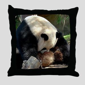 Sorry Panda Throw Pillow
