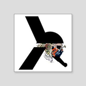 "Alien Warrior - Sci-Fi illu Square Sticker 3"" x 3"""