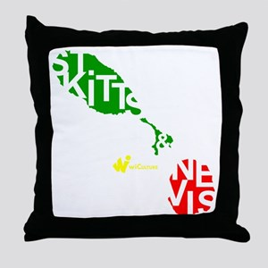 St. Kitts  Nevis Throw Pillow