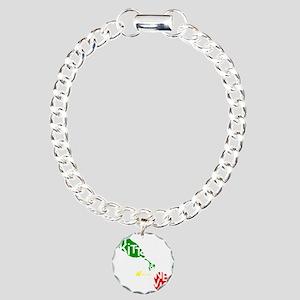 St. Kitts  Nevis Charm Bracelet, One Charm