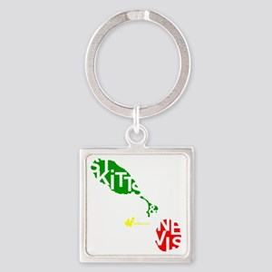 St. Kitts  Nevis Square Keychain
