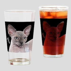 Sphynx Cat Ornament Drinking Glass