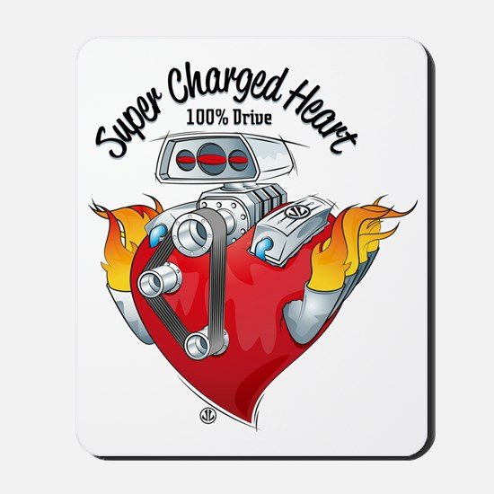 Super Charged Heart 100% Drive Mousepad