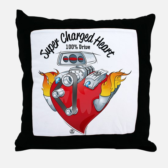 Super Charged Heart 100% Drive Throw Pillow