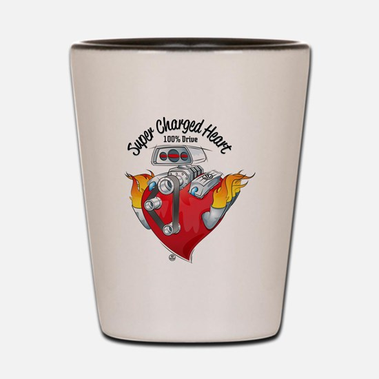 Super Charged Heart 100% Drive Shot Glass