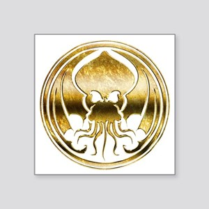 """Call of Cthulhu chromed Square Sticker 3"""" x 3"""""""
