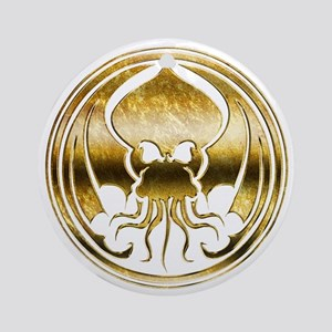 Call of Cthulhu chromed Round Ornament