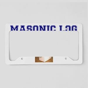 MASONIC LOG PARODY License Plate Holder
