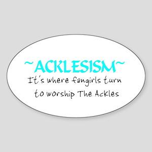 Acklesism Oval Sticker
