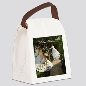 Claude Monet Canvas Lunch Bag