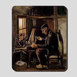 Van Gogh Man Winding Yarn Mousepad