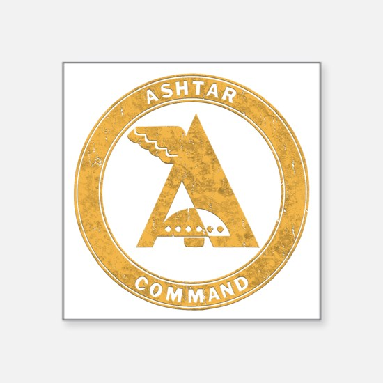 "UFO Ashtar Command scifi vi Square Sticker 3"" x 3"""