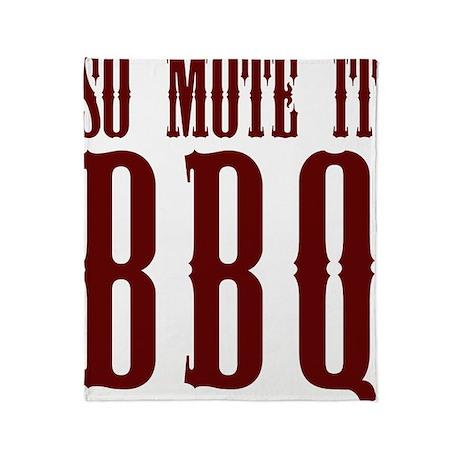 So Mote it BBQ Throw Blanket