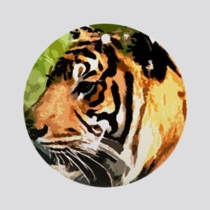 tigerside Round Ornament