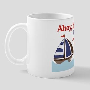 Ships Ahoy Its a boy Sign Mug