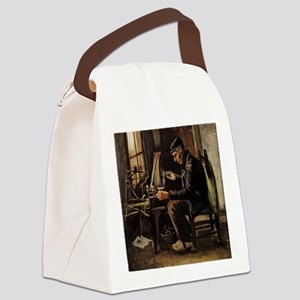 Van Gogh Man Winding Yarn Canvas Lunch Bag