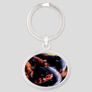 Koi Fresco Oval Keychain