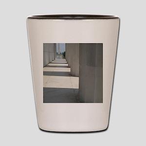Lincoln Memorial columns frame the Wash Shot Glass