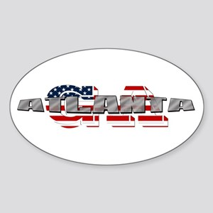 Atlanta GA Sticker (Oval)