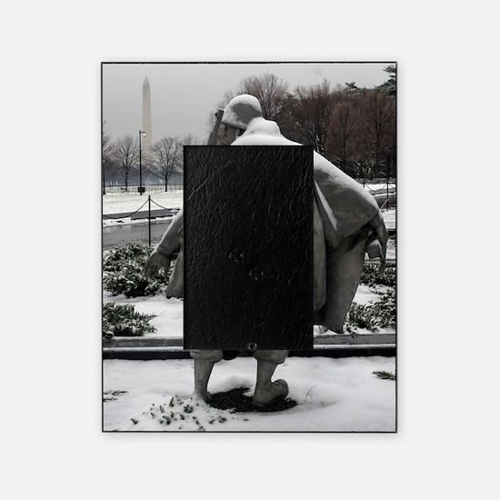 Korean war memorial veterans statues Picture Frame