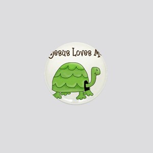 Jesus loves me - Turtle Mini Button