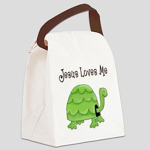 Jesus loves me - Turtle Canvas Lunch Bag