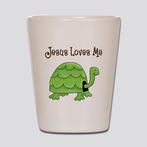 Jesus loves me - Turtle Shot Glass