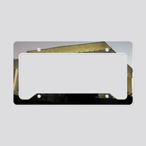 Lincoln Memorial at night License Plate Holder
