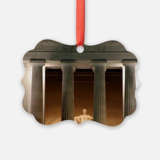 Lincoln memorial at night Ornament