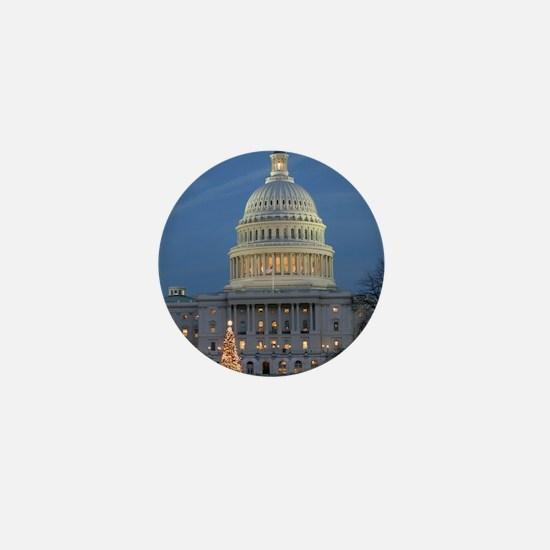 US Capitol Building celebrates Christm Mini Button